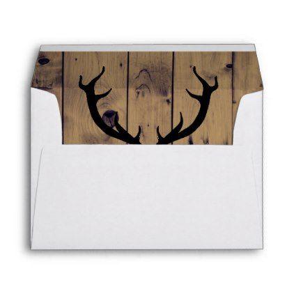 Rustic Antlers 5x7 Wedding Envelope Antlers, Country weddings - a7 envelope template