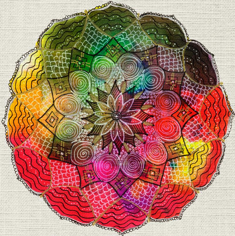 #Mandala Magic www.lisamcloughlinart.com
