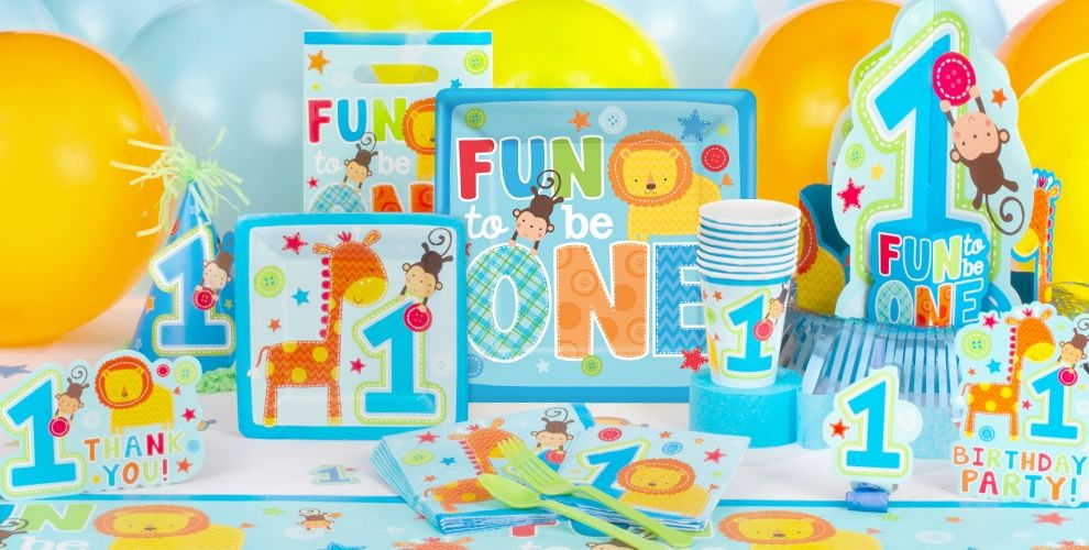 Wild At One Boys 1st Birthday Party Supplies