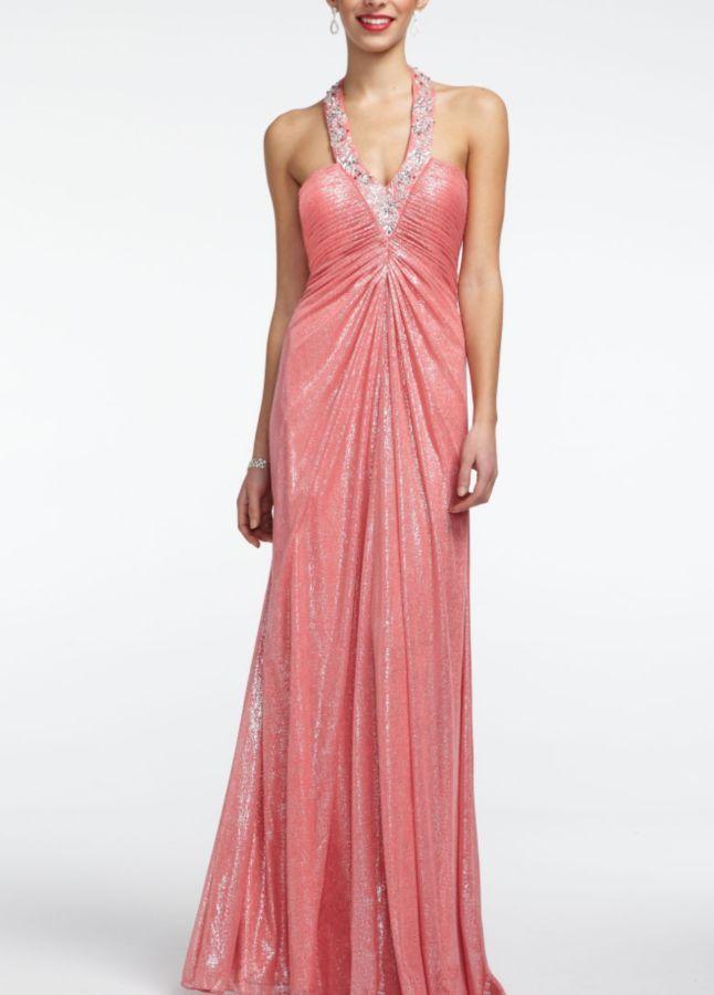 Coral dress | Bridesmaid Dresses | Pinterest
