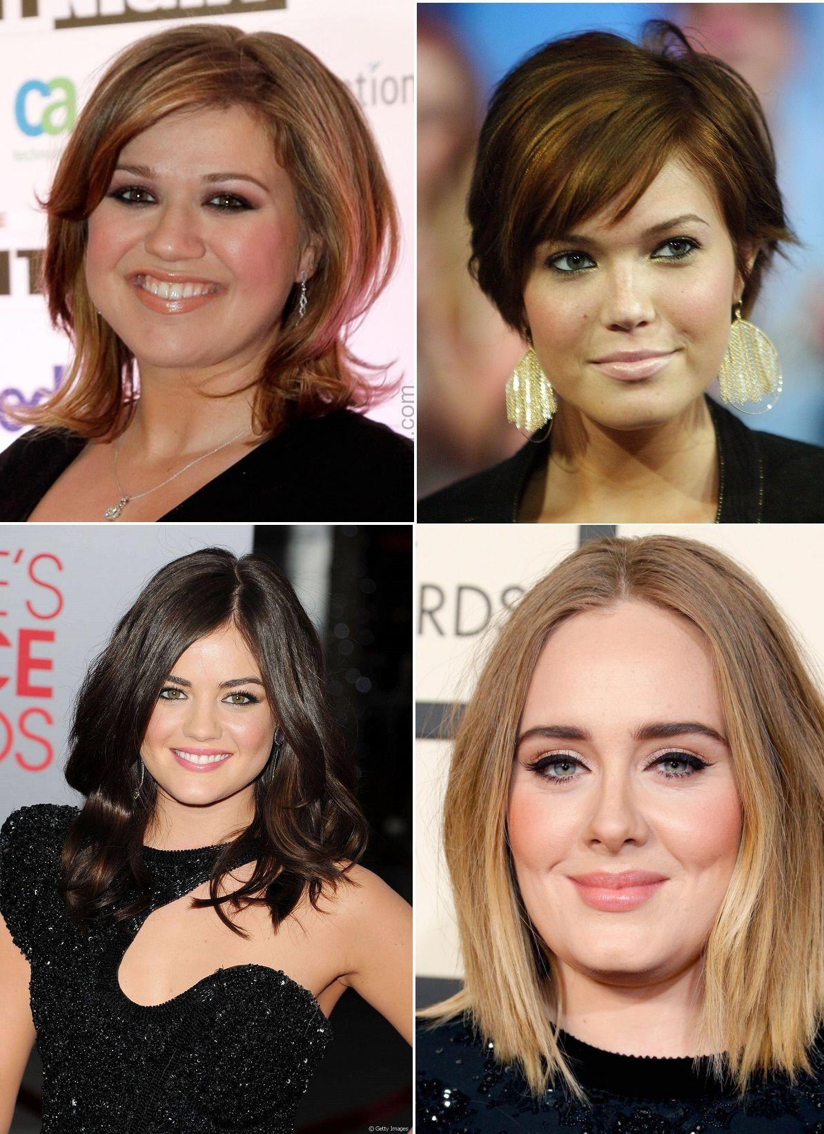 a9756bb5c0779 Veja as mais lindas fotos de cortes de cabelos para rosto redondo!  Selecionamos fotos com