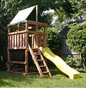 Do it yourself wood fort and swing set designs build it for Do it yourself swing