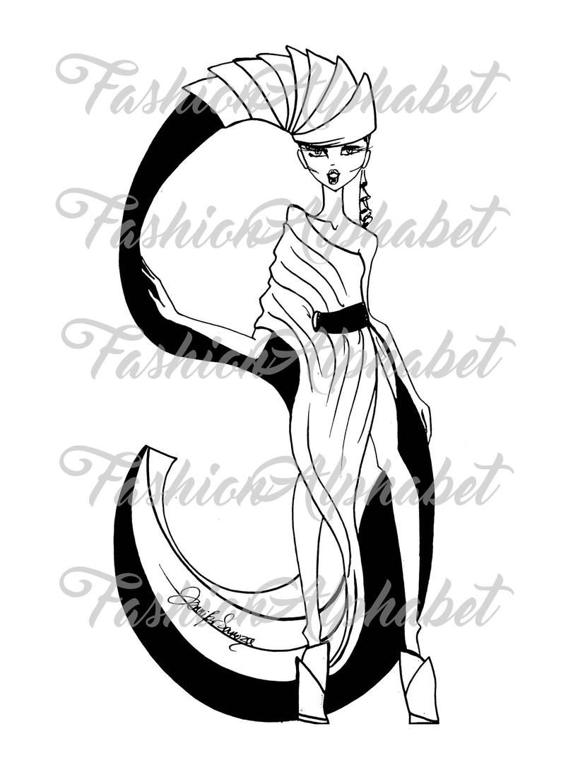 - Instant Download PDF Fashion Alphabet Adult Colouring Book