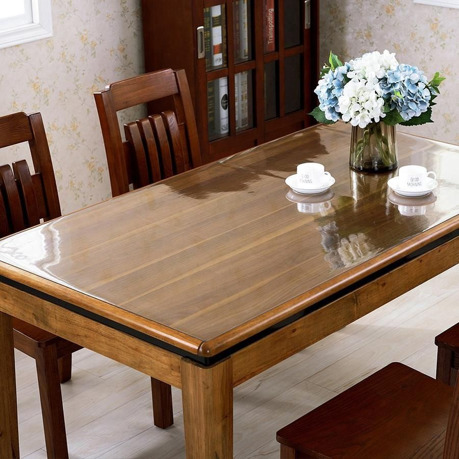 Clear Pvc Table Top Protector Thick Multi Size In 2020 Table Pads Table Dining Room Table