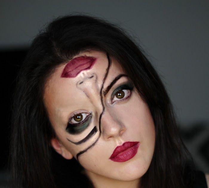 Mein Tutorial Zu Half Face Halloween Make Up Ein Schnelles Last