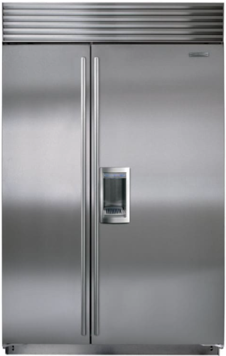 Sub Zero Bi 42sd S Th 42 Built In Refrigerator Sxs W Dispenser Tubular Handle Side By Side Refrigerator Built In Refrigerator Glass Shelves Kitchen
