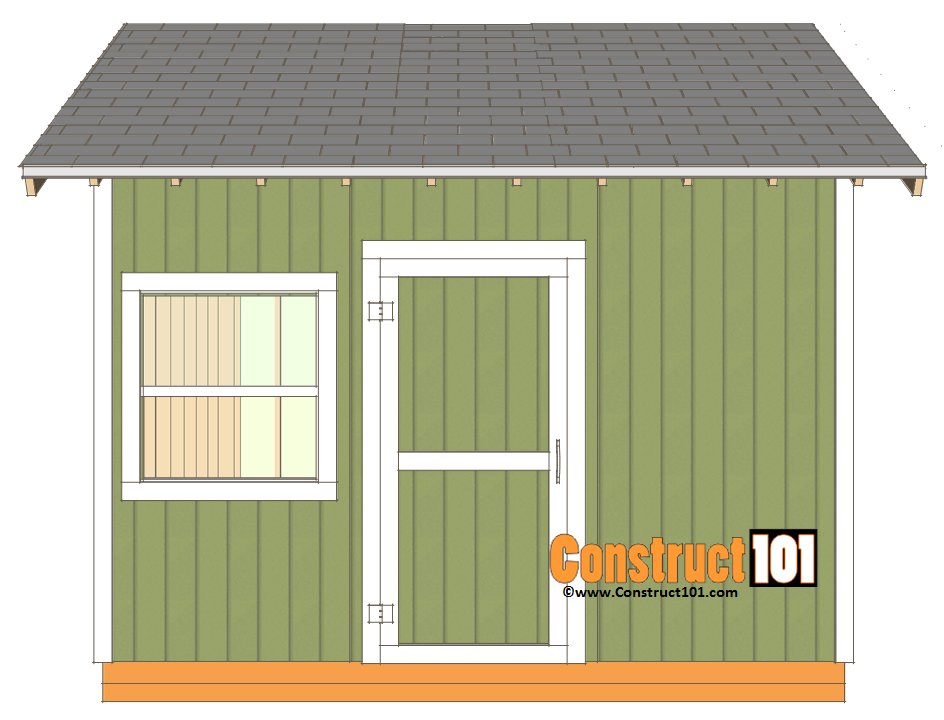 12x12 Shed Plans Gable Shed Construct101 Diy Shed Plans Building A Shed Shed Plans
