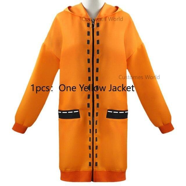 Photo of 7PCS Full Set JP Anime Kakegurui Cosplay Costume Halloween Jabami Yumeko Cosplay Costume Igarashi Sayaka COSPLAY school uniform – Only coat / XL