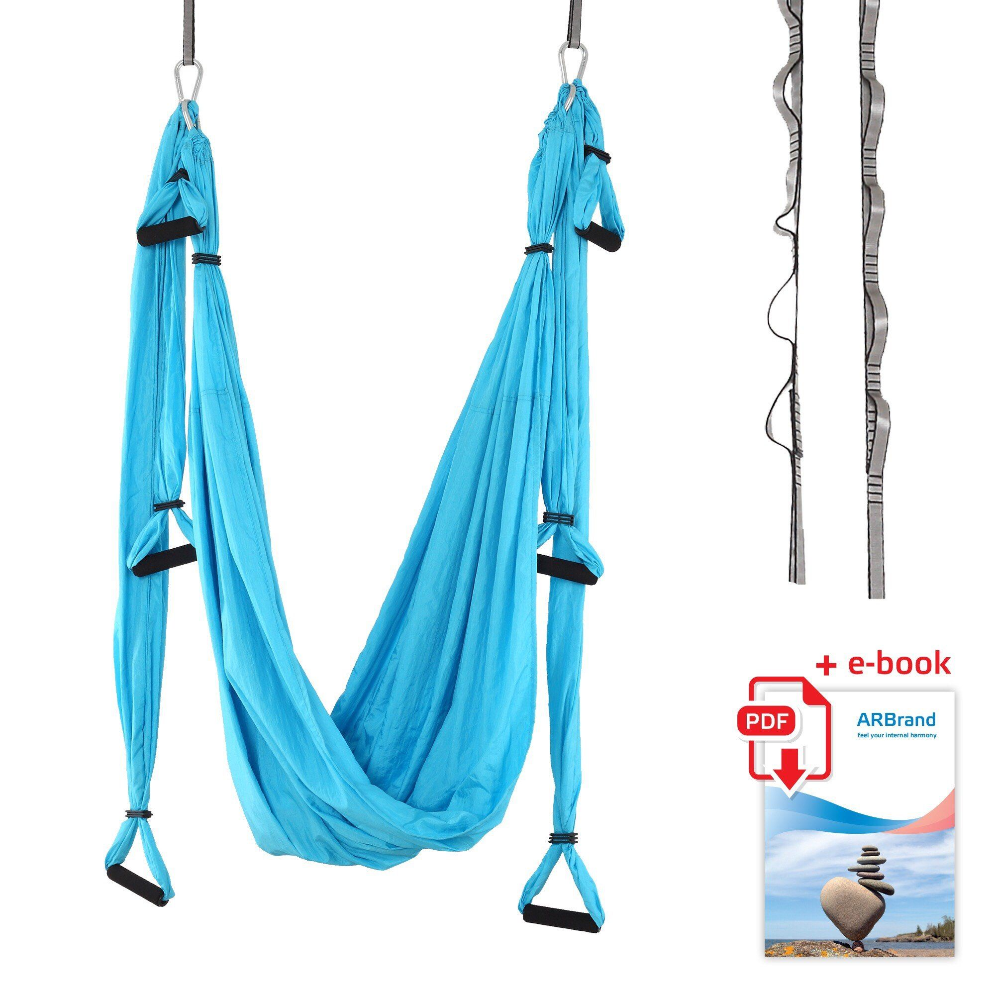 aerial yoga swing   antigravity yoga hammock trapeze sling inversion tool for back pain relief   2 hanging straps 4 heavy duty carabiners 6 eva handles     aerial yoga swing   antigravity yoga hammock trapeze sling      rh   pinterest