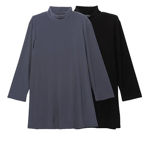Slinky® Brand 2pk 3/4-Sleeve Long Turtleneck Tunics - Terracottachocolt