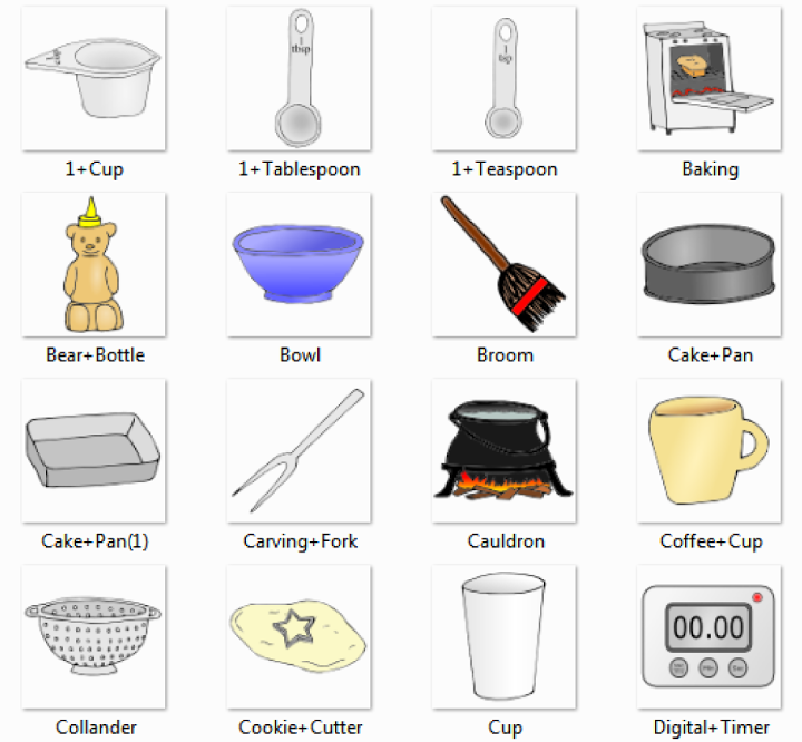 Cup, Tablespoon, Teaspoon, Baking, Bear Bottle, Bowl ...