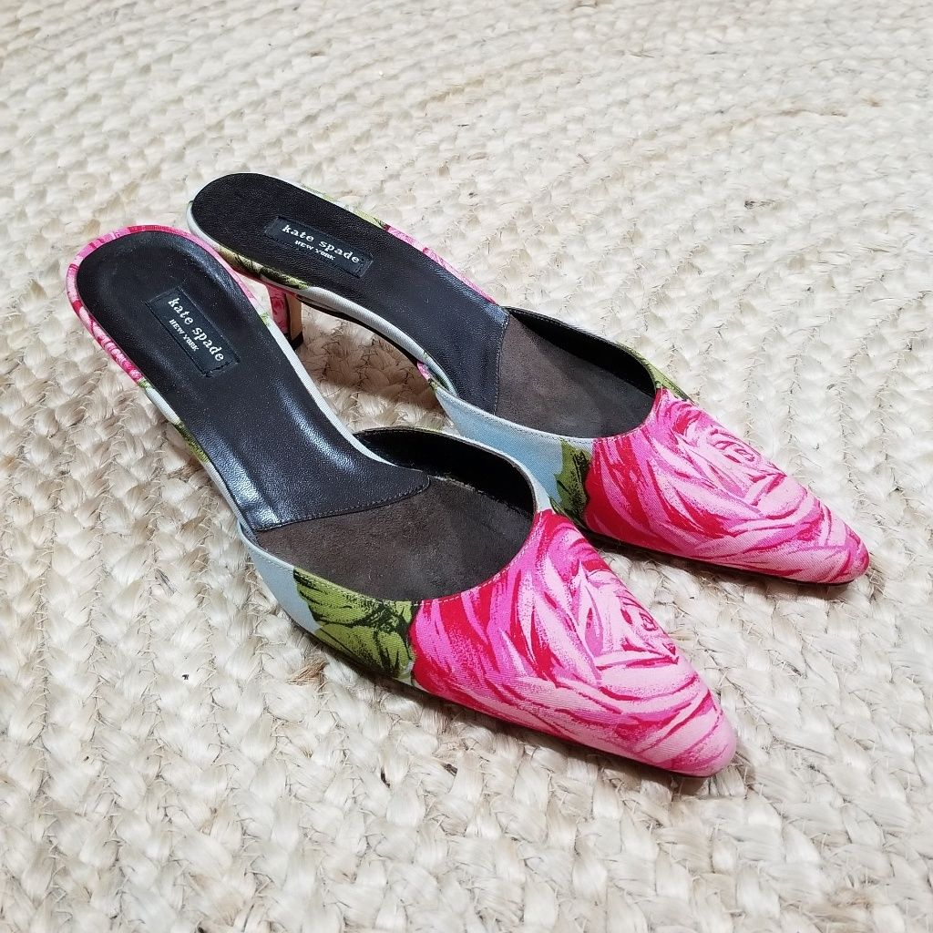 Kate Spade Floral Kitten Heel Pump In 2020 Kitten Heel Pumps Pumps Heels Shoes Women Heels