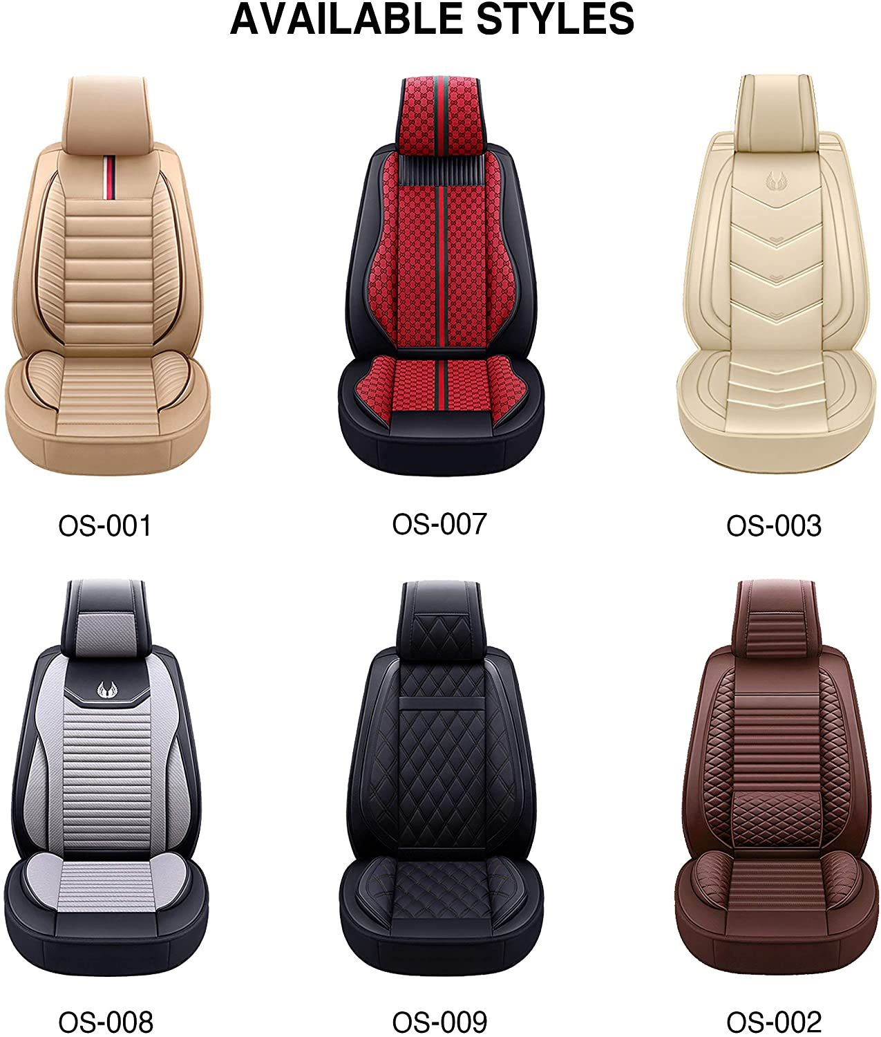 Oasis Auto Leather Car Seat Covers Faux Leatherette Automotive Vehicle Cushion Cover For Cars Suv Leather Car Seat Covers Seat Covers Car Seats