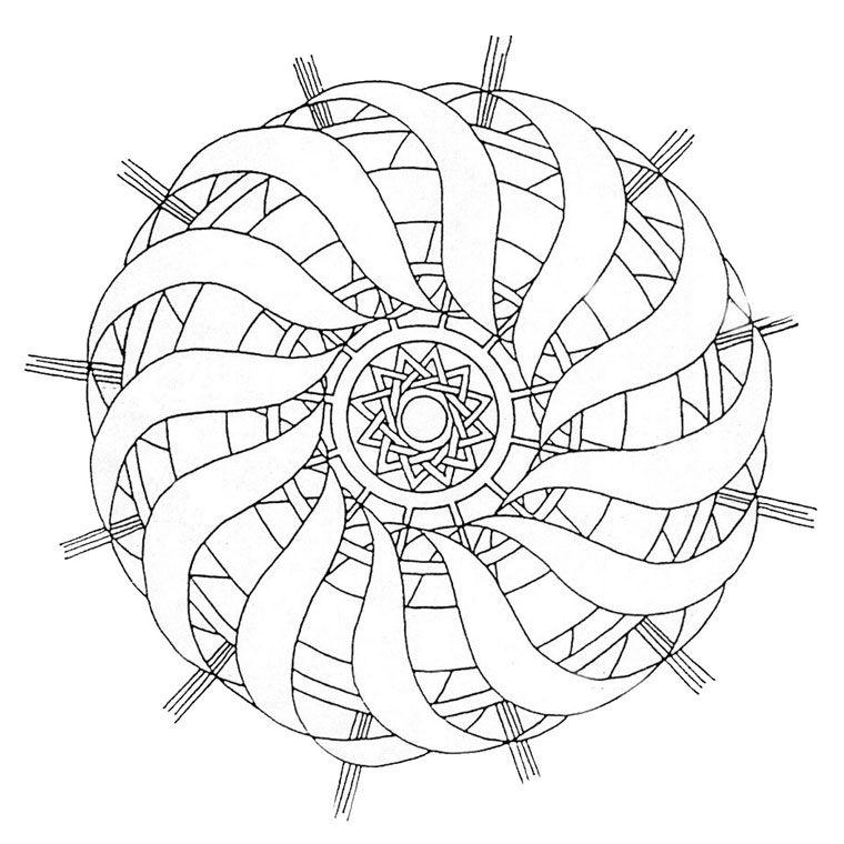 Coloriage Mandala CM1 a Imprimer Gratuit   Coloriage mandala, Coloriage mandala à imprimer ...