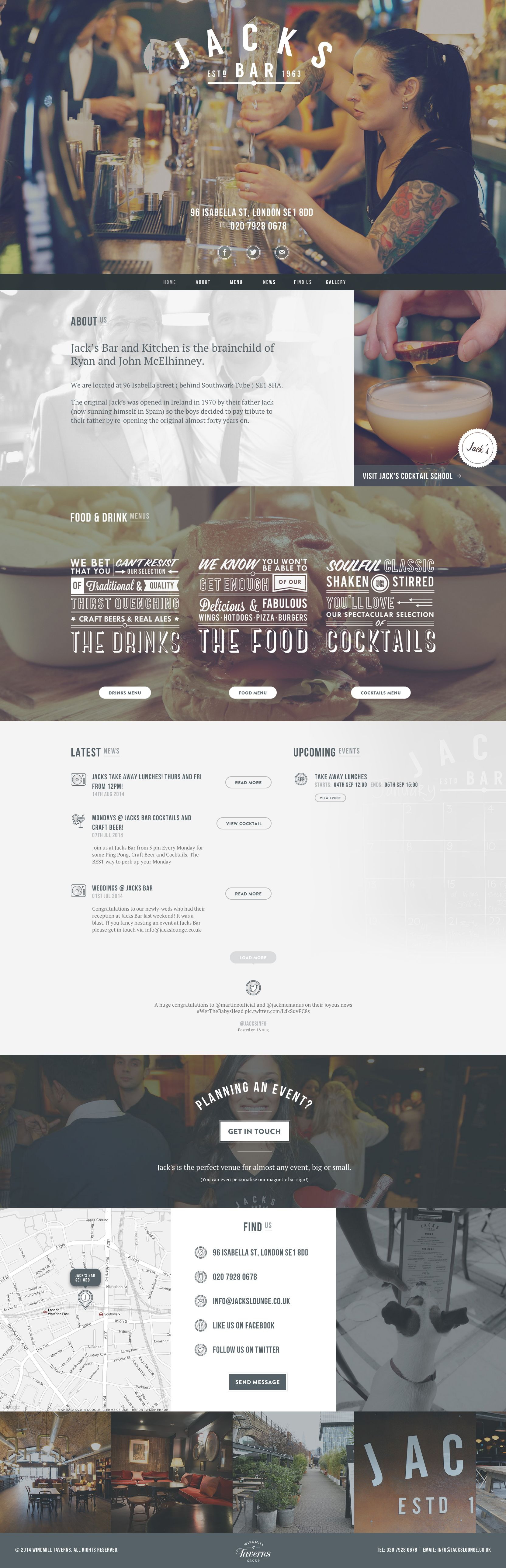 Gorgeous website!! Jacks Bar - London http://jacksbarlondon.co.uk/