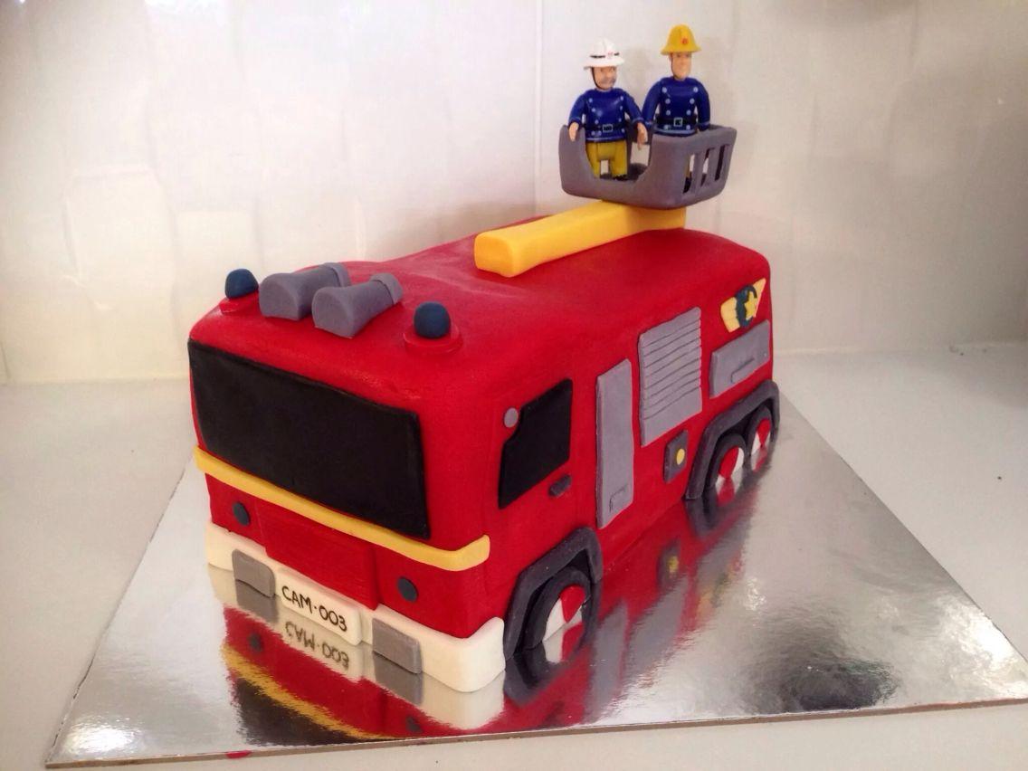 Fireman Sam Birthday Cake Fireman Sam Cake Pinterest Fireman
