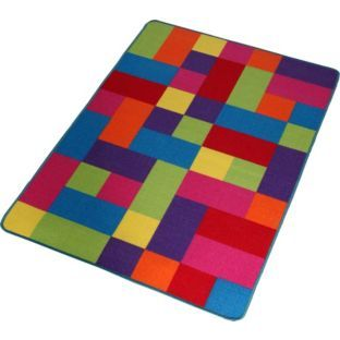 Kids Bedroom Rugs Uk buy colour match kids' large block rug at argos.co.uk - your