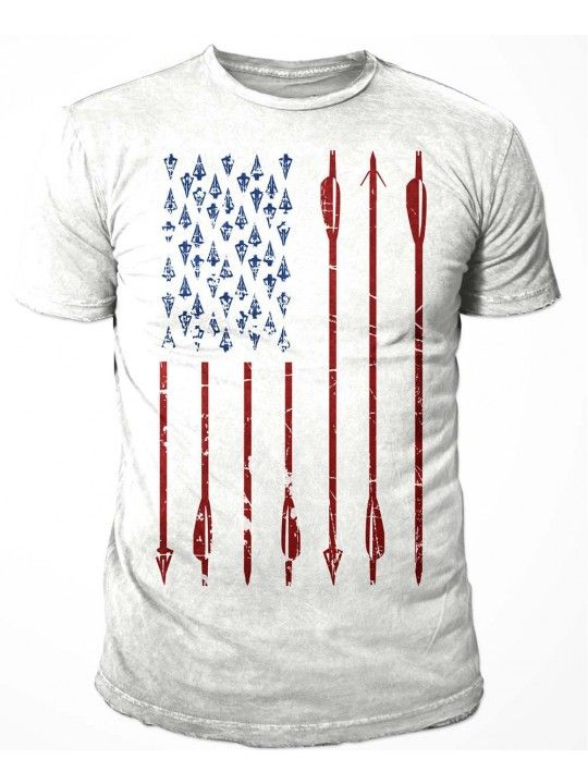 01792387 Bow Life American Archer T-Shirt   American Flag Archery Shirt   Bowhunting  T-shirts