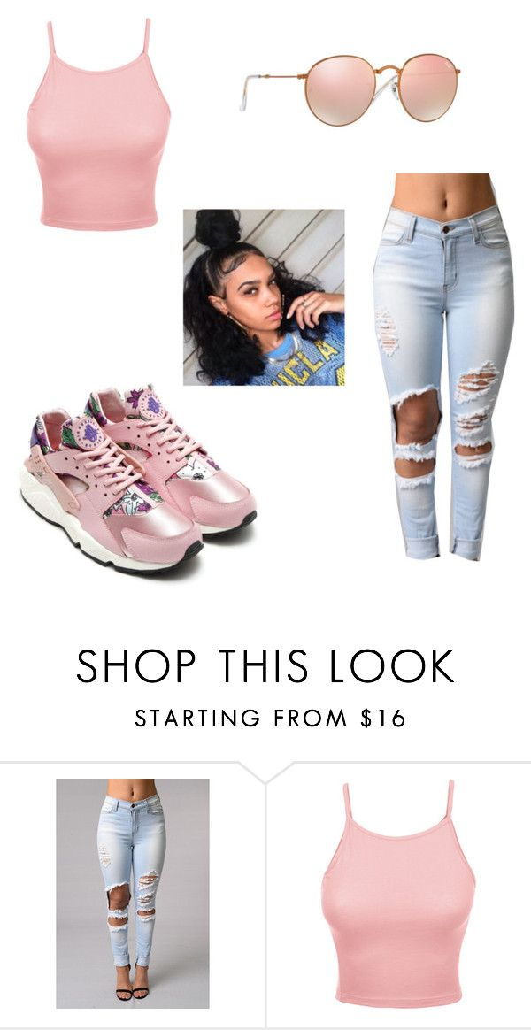 """Untitled #1093"" by jwolley ❤ liked on Polyvore featuring Retrò, LE3NO and Ray-Ban"