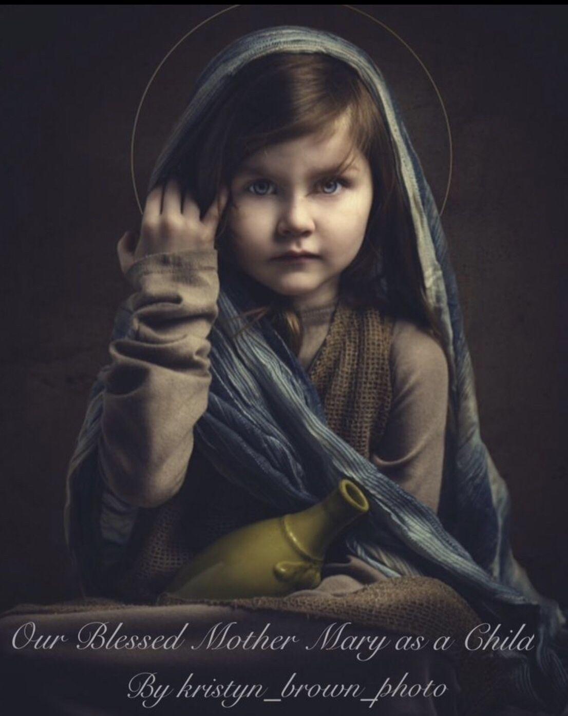 Similar picture of virgin of little girls