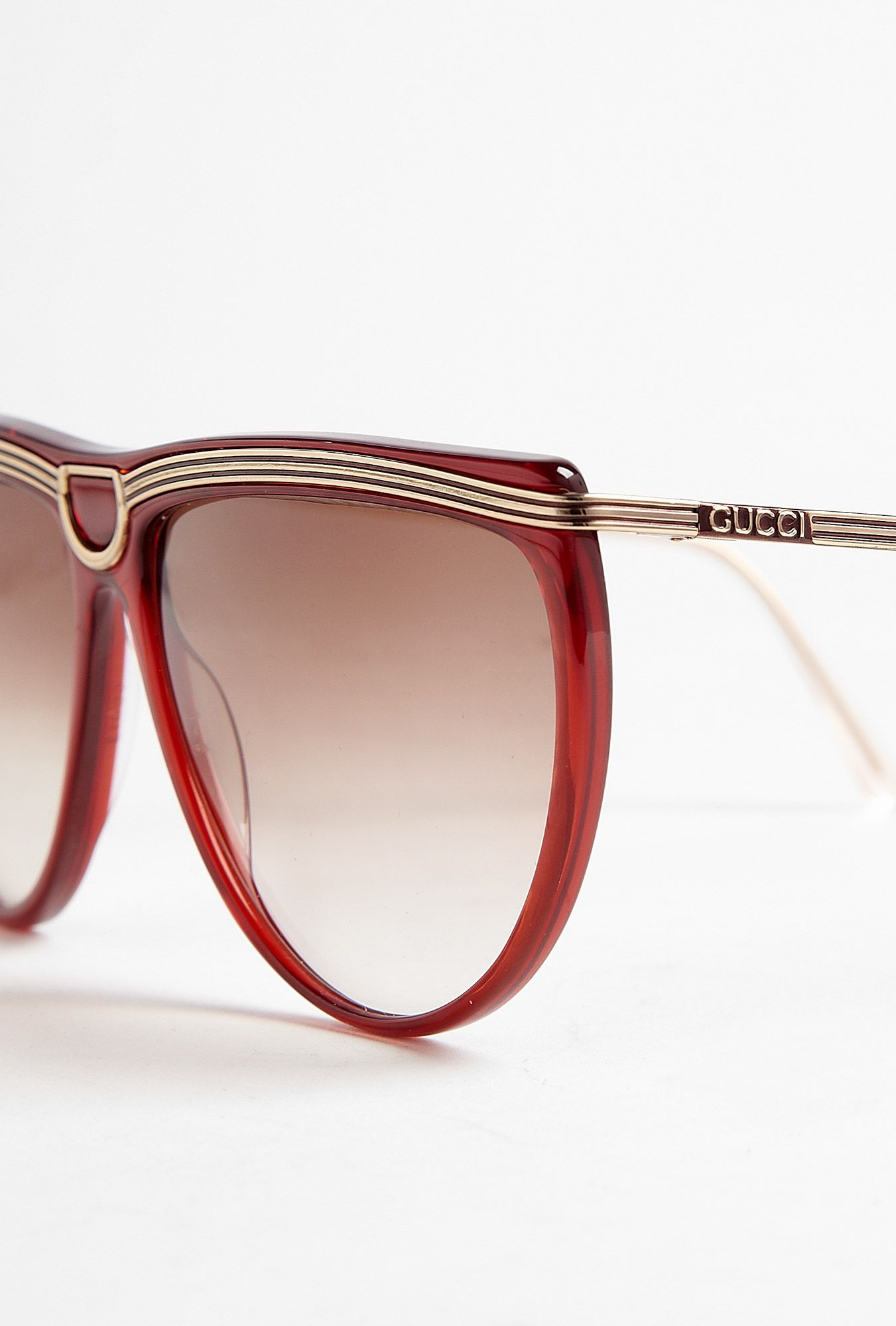 089d41d6c2a Red   Gold Frame Vintage Gucci Sunglasses by Retrosun