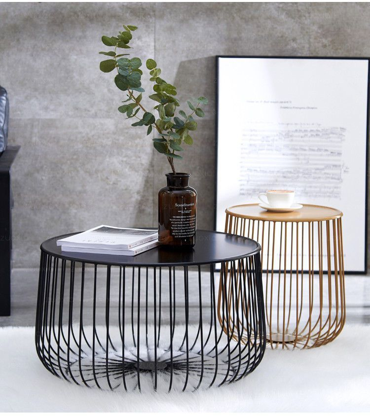 Modern Coffee Table, Industrial Coffee Table, Black Wire Coffee Table, Gold Wire… In 2020 | Wire Coffee Table, Black Coffee Tables, Modern Industrial Coffee Table