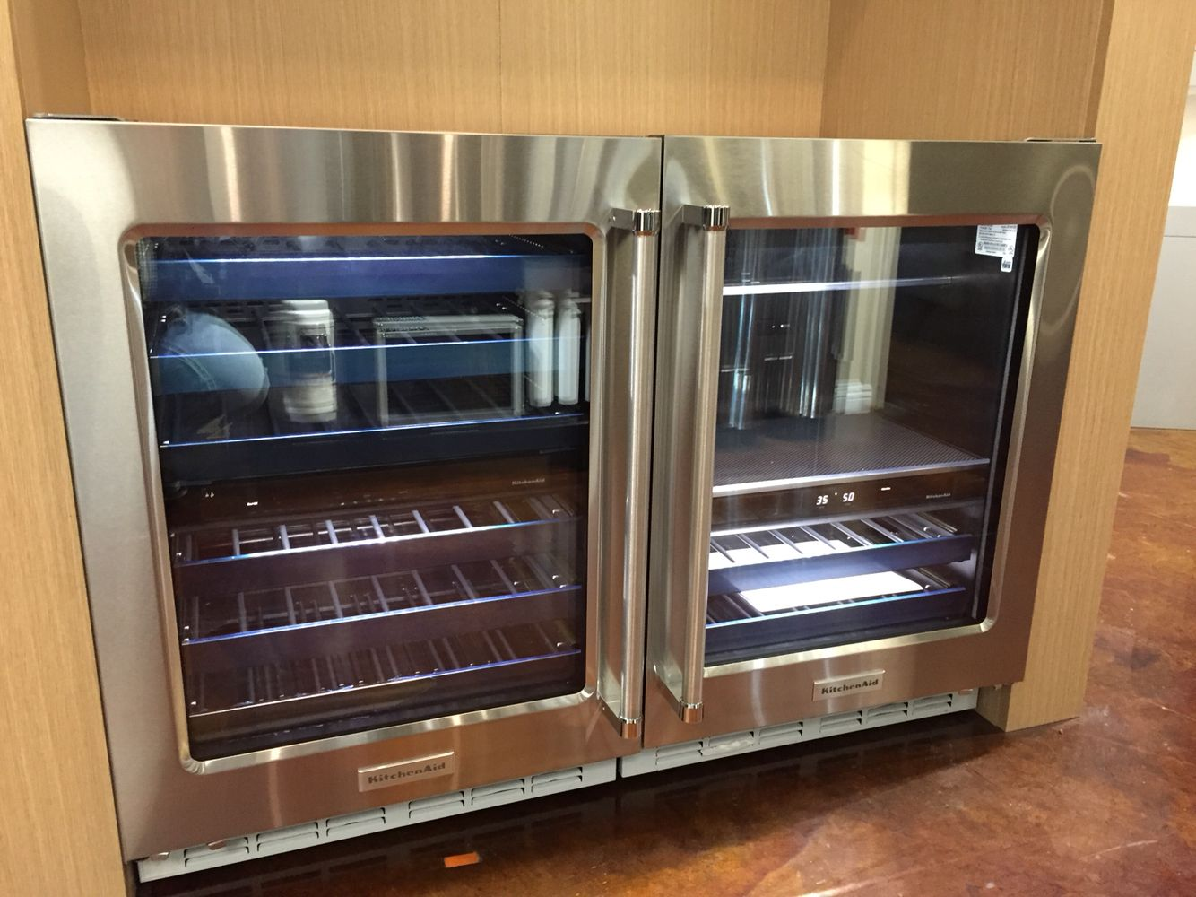 All New Kitchenaid Under Counter Refrigerator And Beverage Center Beverage Refrigerator Small Kitchen Appliances Open Kitchen And Living Room