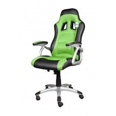 Brand new black and green PU leather computer / game chair