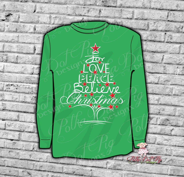 Download Christmas SVG, Joy, Love, Peace, Believe Christmas Sign ...
