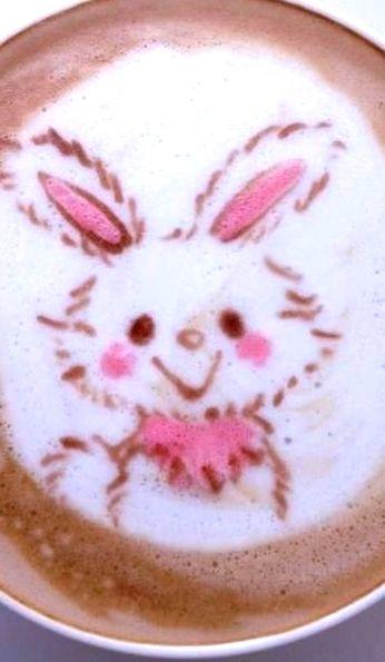 :*¨¨*:Coffee♥Art:*¨¨*: #bunny #coffee #Latteart