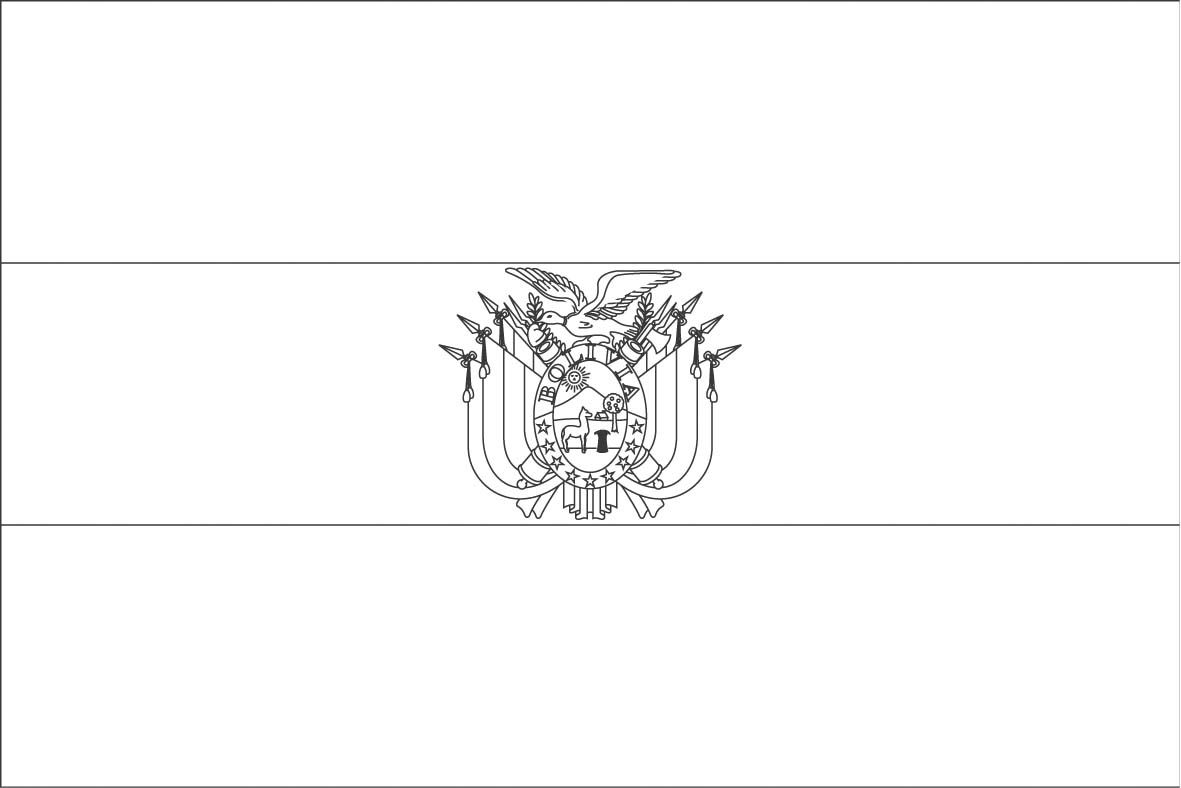 Bolivia Flag Coloring Pages Flag Coloring Pages Bolivia Flag