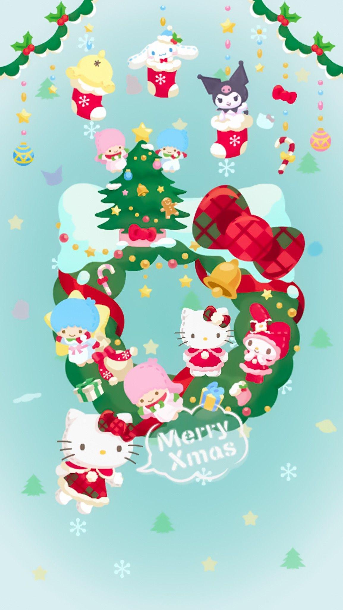 Pin By Aekkalisa On Sanrio Bg Hello Kitty Wallpaper Hello Kitty Christmas Hello Kitty Pictures