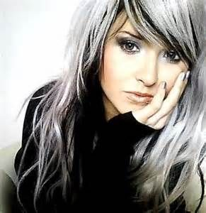 Black Hair With White Highlights Hair Highlights White Hair Color Grey Hair Color