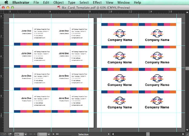 Editable Pdf Business Card Design