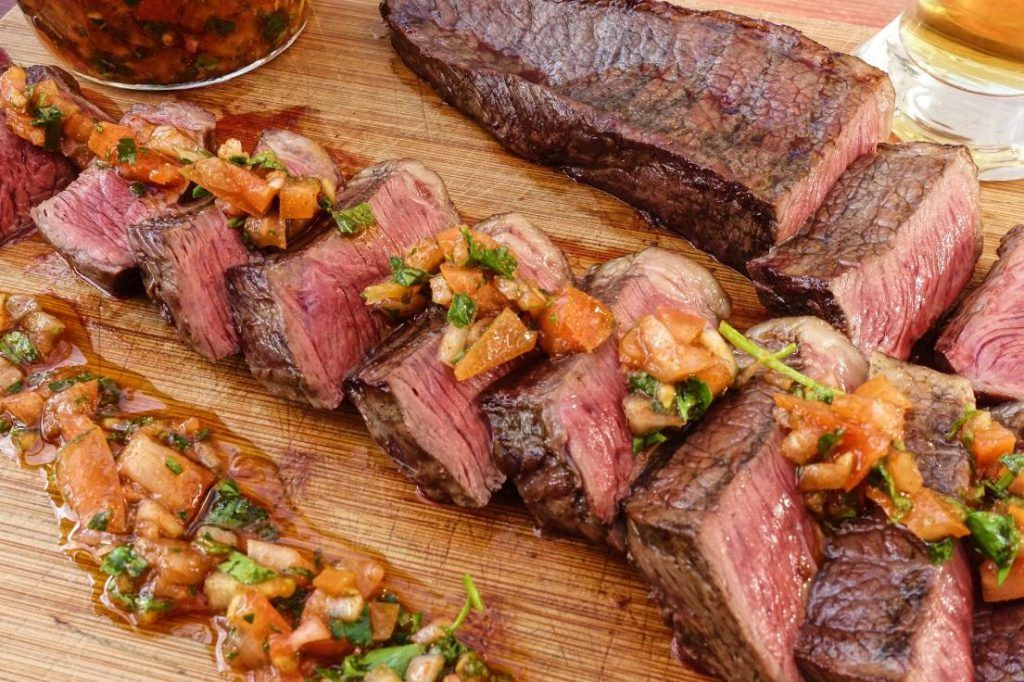 T bone steak van de BBQ Grillfun