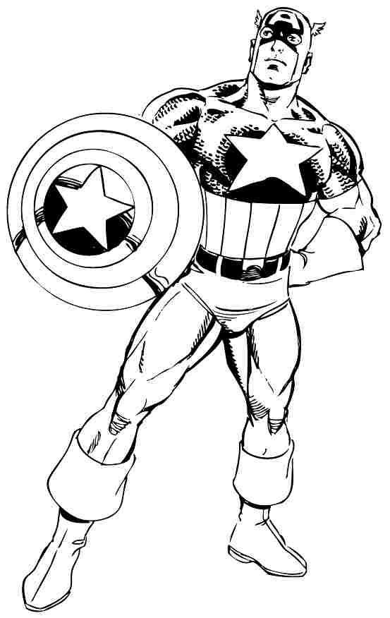 Captain America Coloring Pages Printable Captain America Coloring