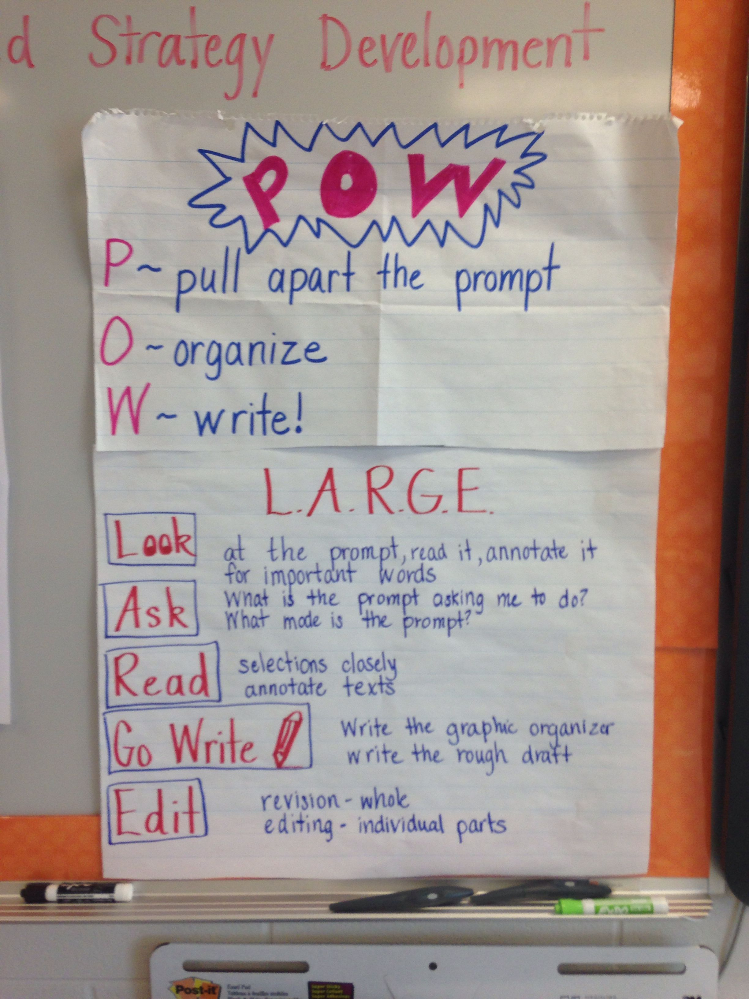 Srsd Pow Mnemonic Anchor Chart Expanded With Large