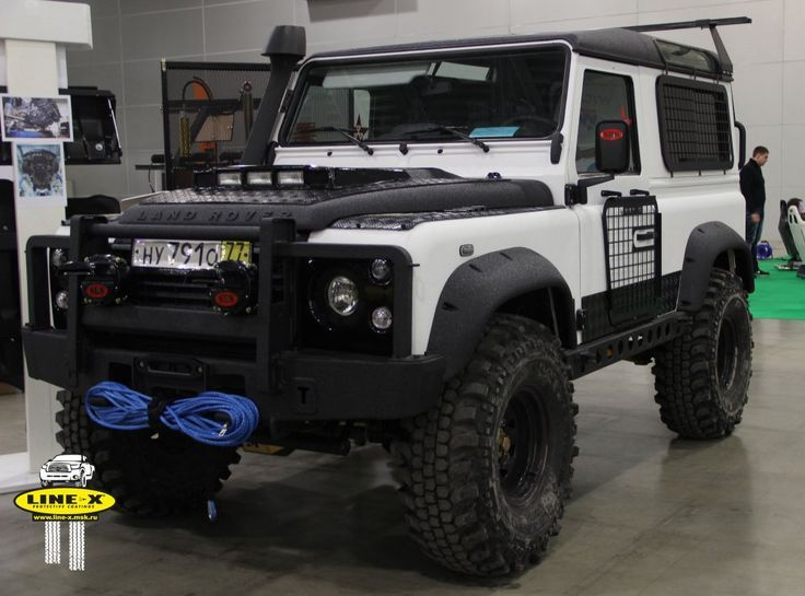 mad kitted defender 90 with a tough exterior coating of line x landrover defender pinterest. Black Bedroom Furniture Sets. Home Design Ideas
