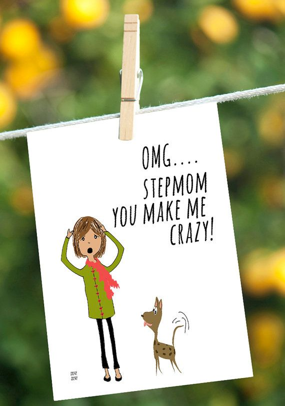 Mothers Day Card Sarcastic CardFunny Stepmom By IreneIreneArt