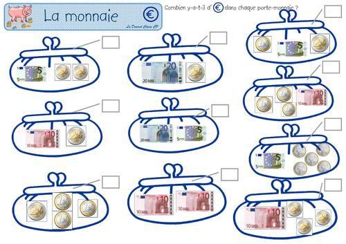Les Euros Petits Problemes Mercantiles Mathematique Facile La Monnaie Ce1 Rendre La Monnaie