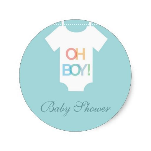 Cute BOY Dress Baby Shower Stickers