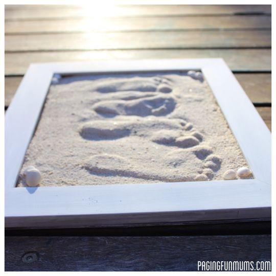 Sand Footprint Craft - Full DIY instructions! | Sand footprint ...