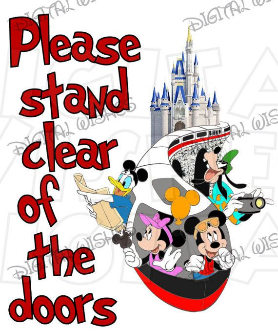 Monorail Please stand clear of the doors Digital Iron on