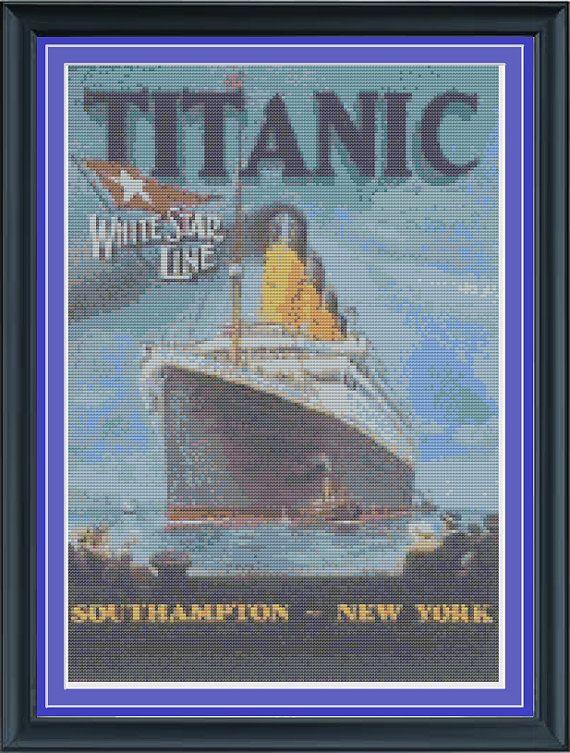 Cross Stitch Chart//Pattern//Design//XStitch Titanic Spirit