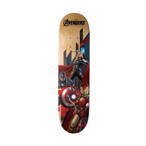 Iron Man Captain America And Thor Custom Skateboard Custom Skateboards Iron Man Captain America Thor