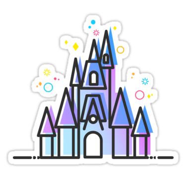 Magic Fairytale Princess Castle Kingdom Sticker By Tachadesigns Disney Sticker Princess Sticker Sleeping Beauty Castle Disneyland