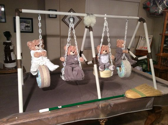 How cute is this?  Quadruplet Diaper Swing by KCDiaperCycles on Etsy