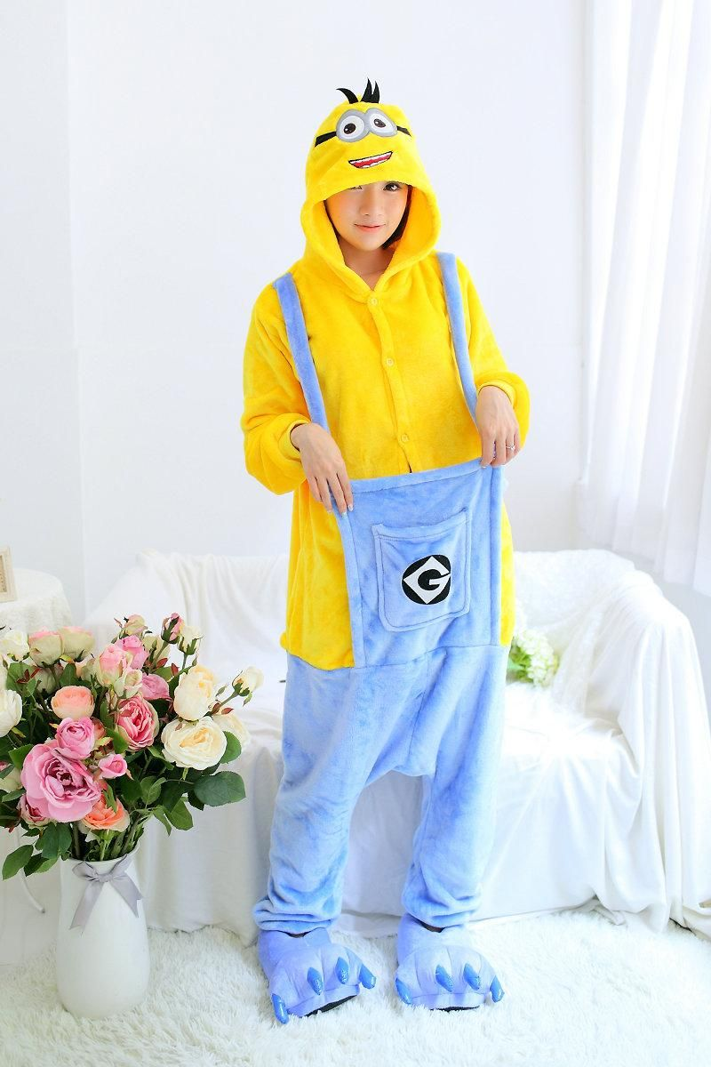 Despicable Me Minions Pajamas Unisex Cosplay Romper Minion Onsie1 Pajama Costume
