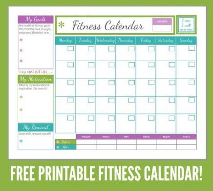 53 Trendy Fitness Tracker Printable Planners 21 Day Fix #fitness