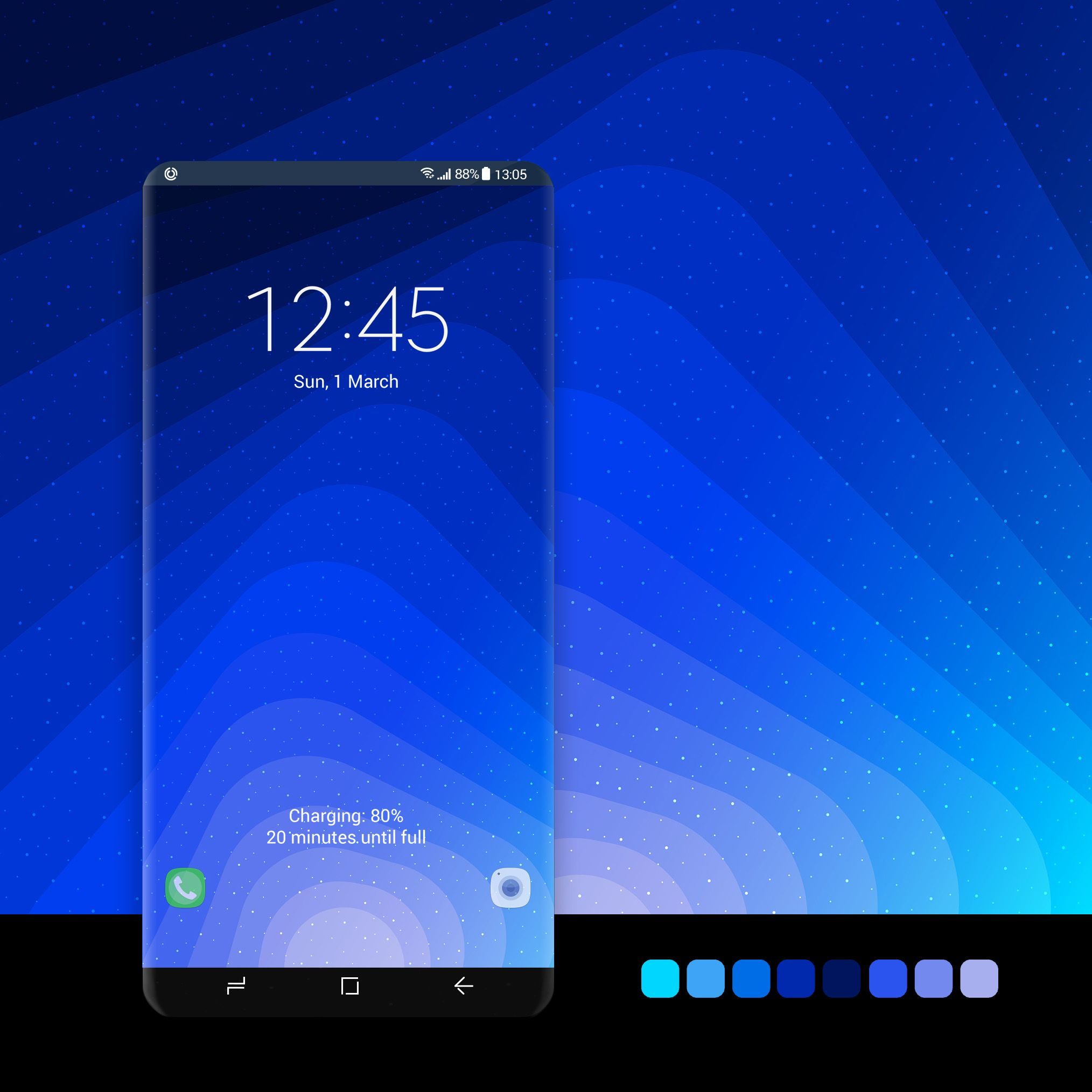 Bright blue gradients wallpaper wallpaper, android,
